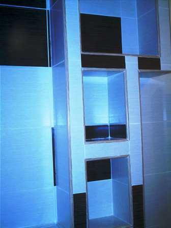Poza poze Mobilier baie etajera din rigips placata cu faianta
